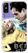 1933 - After Tonight Motion Picture Poster - Constance Bennet - Gilbert Roland - Color IPhone Case