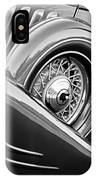 1933 Pontiac Spare Tire -0431bw IPhone Case