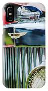 1934 Aston Martin Mark II Short Chassis 2-4 Seater Grille Emblem IPhone Case