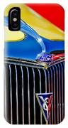 1934 Ford Deluxe Coupe Grille Emblems IPhone Case