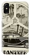 1935 - Panhard Panoramique French Automobile Advertisement IPhone Case