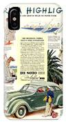 1936 - De Soto Airflow IIi Automobile Advertisement - Color IPhone Case