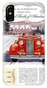 1936 - Lasalle Convertible Automobile Advertisement - Color IPhone Case