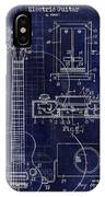 1937 Gibson Electric Guitar Patent Drawing Blue IPhone Case
