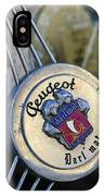 1937 Peugeot 402 Darl'mat Legere Special Sport Roadster Recreation Steering Wheel Emblem IPhone Case