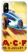 1938 - Automobile Club De France Poster - Reims - George Ham - Color IPhone Case