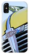 1938 Chevrolet Coupe Hood Ornament -0216c IPhone Case