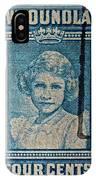 1938 Queen Elizabeth II Newfoundland Stamp IPhone Case