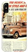 1939 - Plymouth Automobile Advertisement - Color IPhone Case
