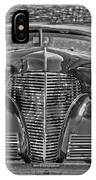 1939 Chevy Immenent Front Bw Art IPhone Case