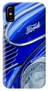 1939 Ford Woody Wagon Side Emblem IPhone Case