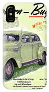 1939 Imperial Vintage Automobile Ad IPhone Case