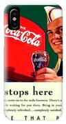 1940 - Coca-cola Advertisement - Color IPhone Case