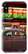 1940 Ford Deluxe Coupe At Mickeys Dinner  IPhone Case