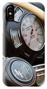 1938 Lincoln-zephyr Continental Cabriolet Steering Wheel Emblem -1817c IPhone Case