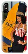1940s Style Pin-up Girl Leaning IPhone Case by Christian Kieffer