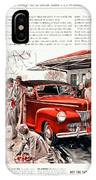 1941 - Ford Super Deluxe Automobile Advertisement - Color IPhone Case