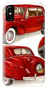 1941 V 12  Lincoln Continental IPhone Case