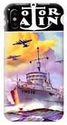 1942 - Motor Boating Magazine Cover - October - Color IPhone Case
