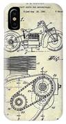 1943 Indian Motorcycle Patent Drawing IPhone Case
