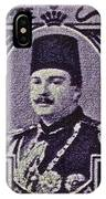 1944 King Farouk Egypt Stamp  IPhone Case