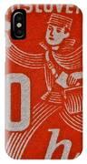 1945 Czechoslovakia Newspaper Stamp IPhone Case
