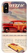 1946 - Pontiac Woodie Station Wagon And Convertible Advertisement - Color IPhone Case