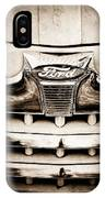 1947 Ford Deluxe Grille Grille Emblem IPhone Case