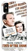 1948 - State Of The Union Motion Picture Poster - Spencer Tracy - Katherine Hepburn - Mgm - Color IPhone Case