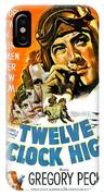 1949 - Twelve O Clock High Movie Poster - Gregory Peck - Dean Jagger - 20th Century Pictures - Color IPhone Case