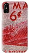 1949 Dc-4 Skymaster Air Mail Stamp IPhone Case