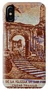1949 San Francisco Ruins Dominican Republic Stamp IPhone Case