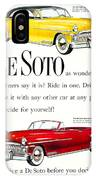 1950 - De Soto Sportsman Convertible - Advertisement - Color IPhone Case
