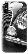 1951 Jaguar Xk120 In Black And White IPhone Case
