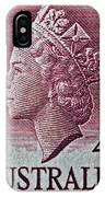 1952-1958 Australia Queen Elizabeth II Stamp IPhone Case