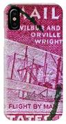 1952 Wright Brothers Stamp IPhone Case