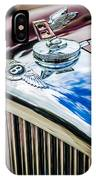 1953 Bentley R-type Hood Ornament - Emblem -0790c IPhone Case