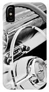 1954 Chevrolet Belair Steering Wheel Emblem -1535bw IPhone Case