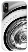 1954 Chevrolet Corvette Wheel Emblem -290bw IPhone Case