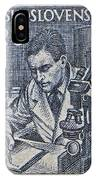 1954 Czechoslovakian Scientist Stamp IPhone Case