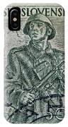 1954 Czechoslovakian Soldier Stamp IPhone Case