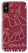1954 De La Salle Monaco Stamp IPhone Case