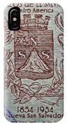 1954 El Salvador Stamp IPhone Case