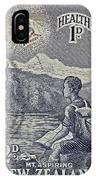 1954 Mount Aspiring New Zealand Stamp IPhone Case