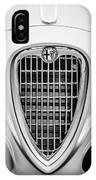 1955 Alfa Romeo 1900 Css Ghia Aigle Cabriolet Grille Emblem -0564bw IPhone Case