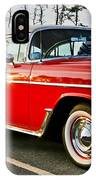 1955 Chevy Bel Air Down The Side - Red And White IPhone Case