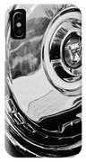 1956 Ford Thunderbird Wheel Emblem -232bw IPhone Case