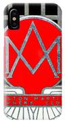 1957 Aston Martin Owner's Club Emblem IPhone Case
