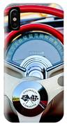 1957 Chevrolet Corvette Convertible Steering Wheel IPhone Case