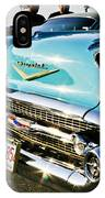 1957 Chevy Bel Air Blue Front End IPhone Case